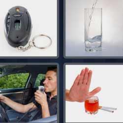 4 fotos 1 palabra prueba de alcoholemia