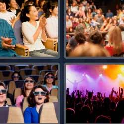4fotos1palabra público concierto cine gente aplaudiendo