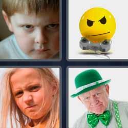 4 fotos 1 palabra sombrero verde