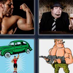 4 fotos 1 palabra hombre musculoso ganster