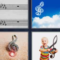4 fotos 1 palabra nota musical