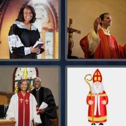 4 fotos 1 palabra sacerdote