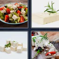4 fotos 1 palabra queso ensalada