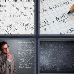 4 fotos 1 palabra pizarra fórmulas