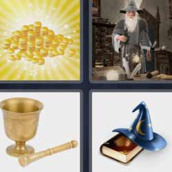 4 fotos 1 palabra oro mago