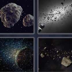4 fotos 1 palabra meteoritos