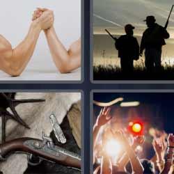 4 fotos 1 palabra pulso cazadores