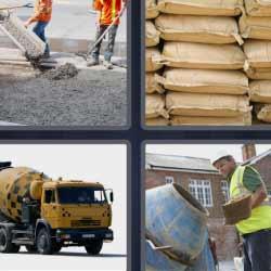 4 fotos 1 palabra camión sacos