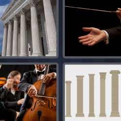 4 fotos 1 palabra columnas orquesta