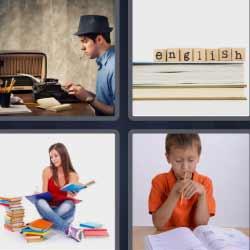 4 fotos 1 palabra escritor niño