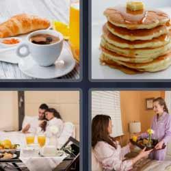 4 fotos 1 palabra café tortitas