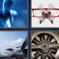 4 fotos 1 palabra avioneta motor