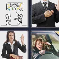4 fotos 1 palabra mujer al volante