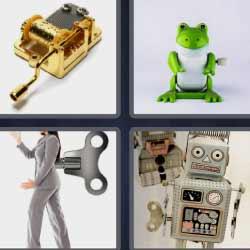 4 fotos 1 palabra robot rana