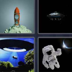 4 fotos 1 palabra astronauta cohete
